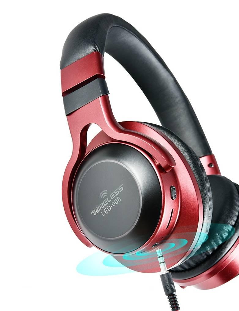 LED Light Wireless Bluetooth Headphones